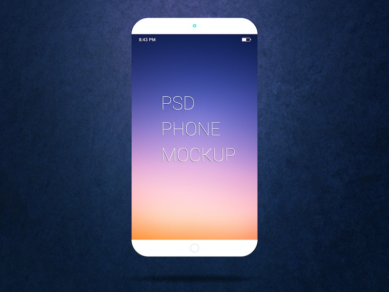 Free Smartphone PSD Mockup preview