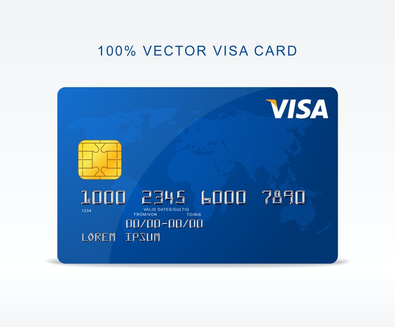 Free Vector Visa Credit Card preview