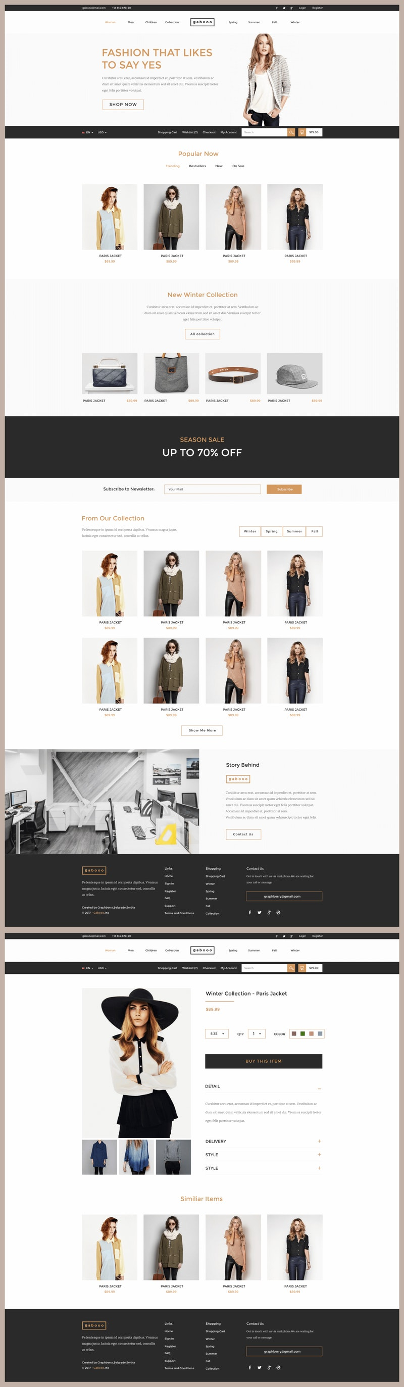 Gabooo - Fashion eCommerce Theme preview