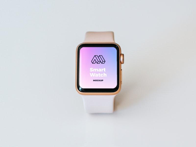 Golden Smart Watch PSD Mockup preview