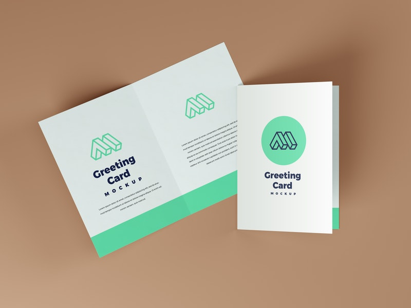 Greeting Card PSD Mockup preview