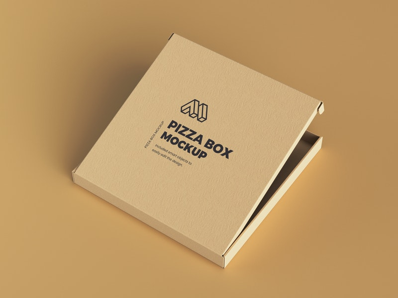 Half Opened Pizza Box Mockup preview