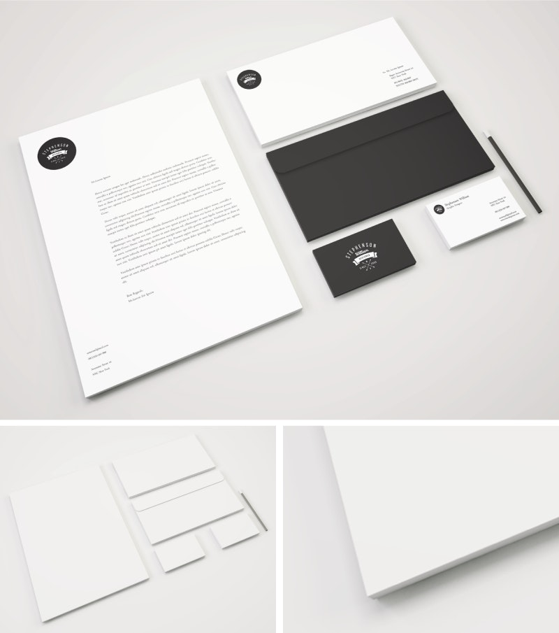 Identity Branding Stationery PSD Mockup preview