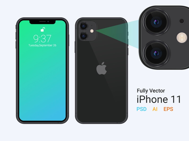 iPhone 11 Vector Mockup preview