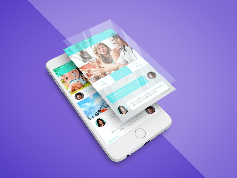iPhone App Screen PSD Mockup preview