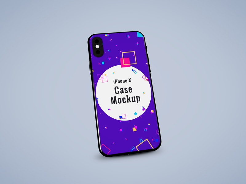 iPhone X Case PSD Mockup preview