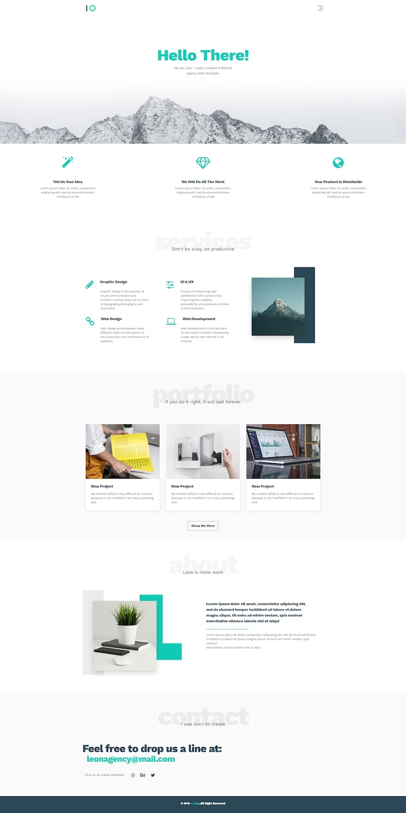 Leon - Free Html Agency Website Template preview