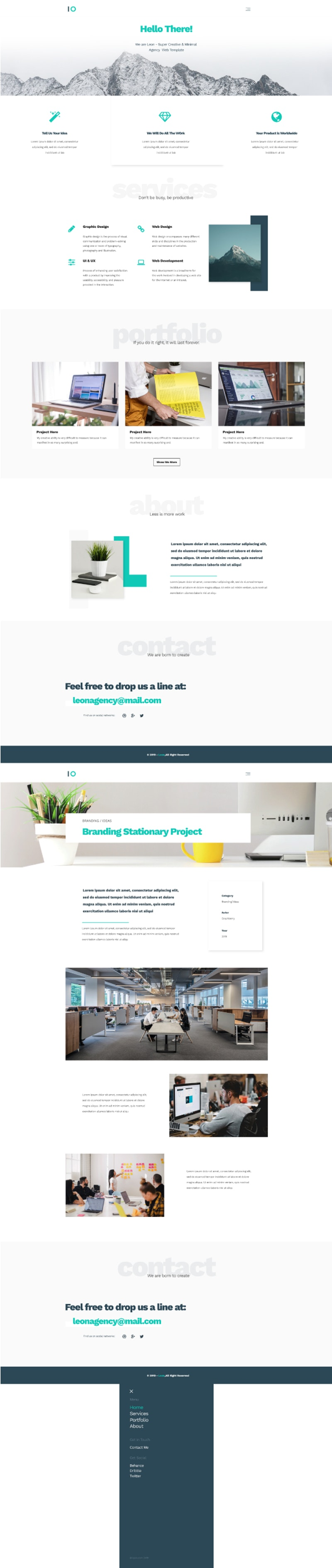 Leon - PSD Agency Template preview