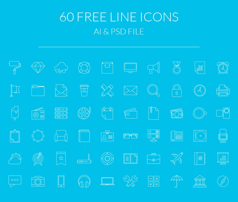 Modern Line Icons preview