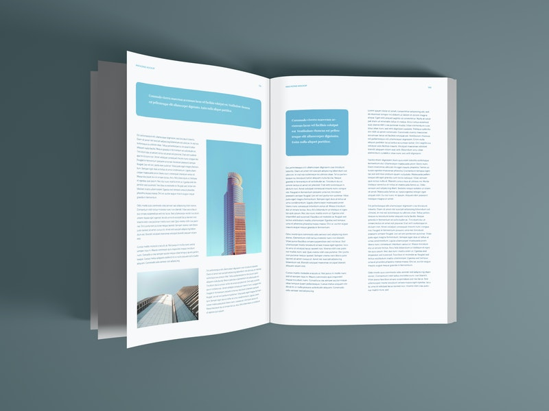 Magazine Pages PSD Mockup preview