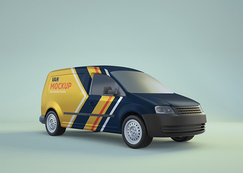 Minivan PSD Mockup preview