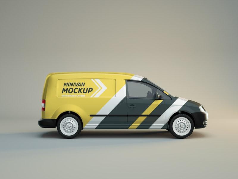 Minivan Side View Mockup preview