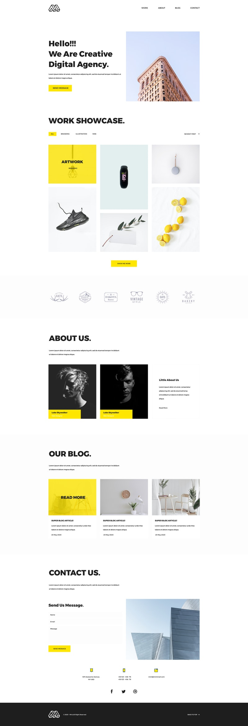 Mint - Minimal Portfolio PSD Template preview