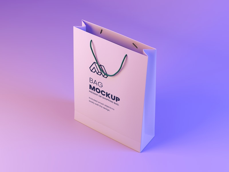 Modern Paper Bag PSD Mockup preview