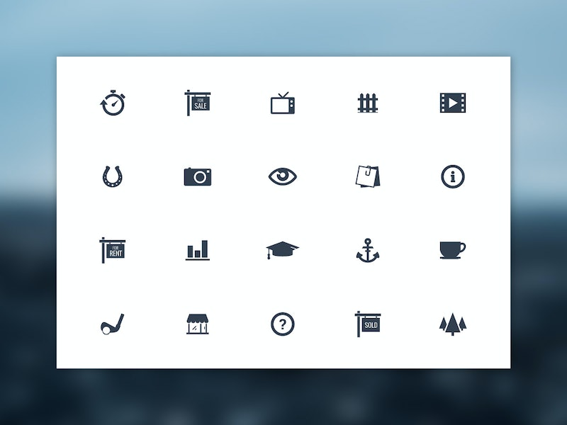 Mono - 20 Vector Simple Icons preview