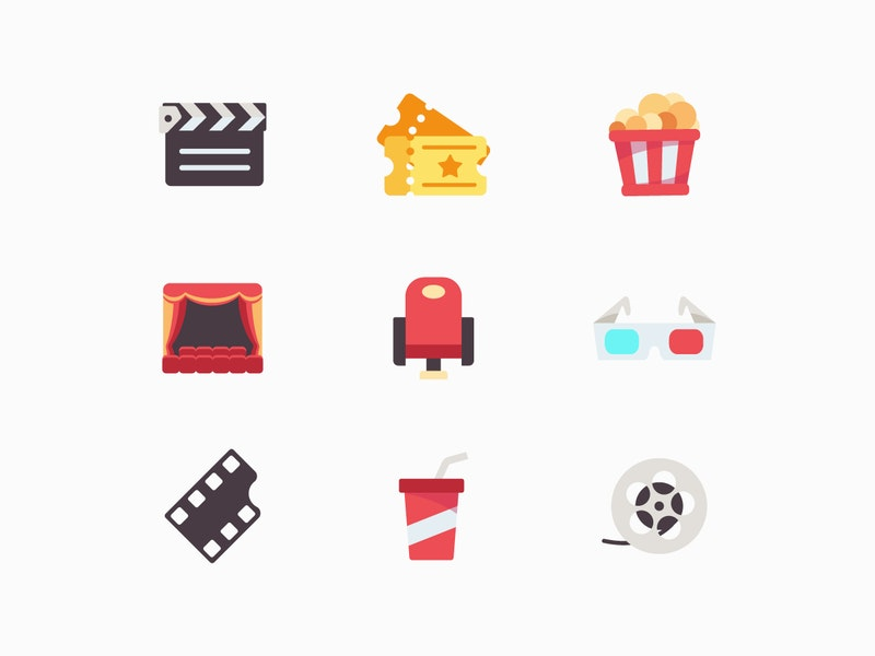 Movie Vector Icon Set preview