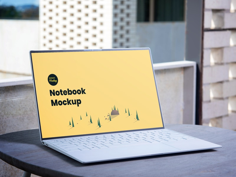 Notebook PSD Mockup preview