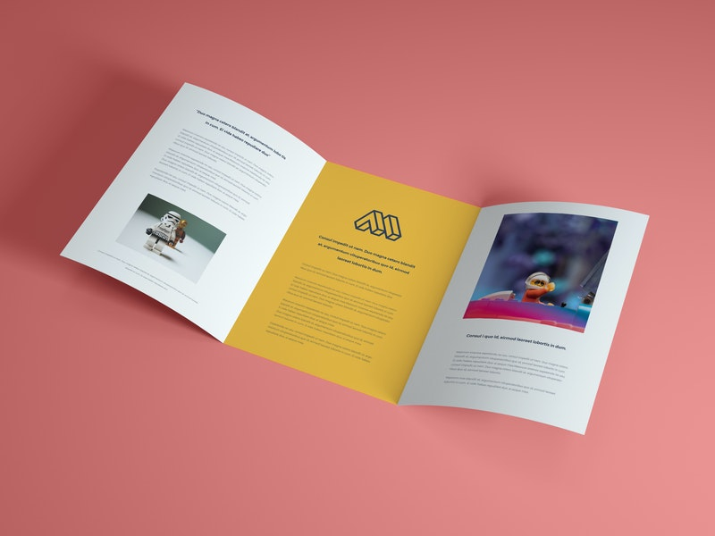 Open Brochure PSD Mockup preview