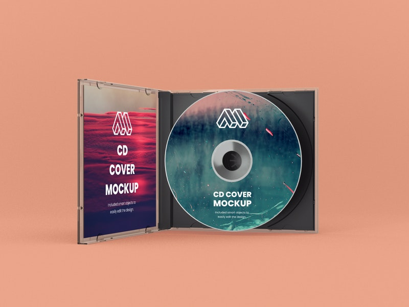 Opened CD Case PSD Mockup preview