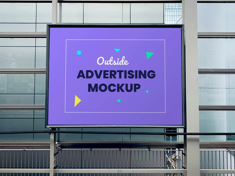 Outdoor Advertising Panel PSD Mockup preview