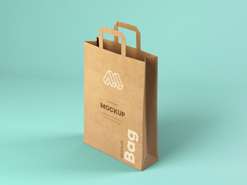 Paper Bag Perspective View Mockup preview