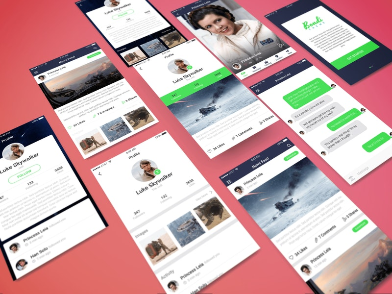 Perspective App PSD Showcase Mockup preview