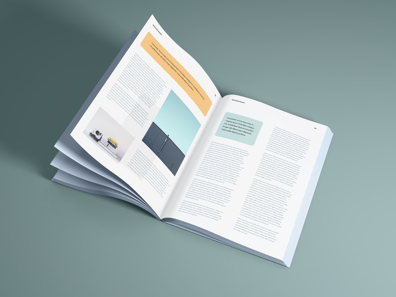 Perspective Open Magazine Mockup preview
