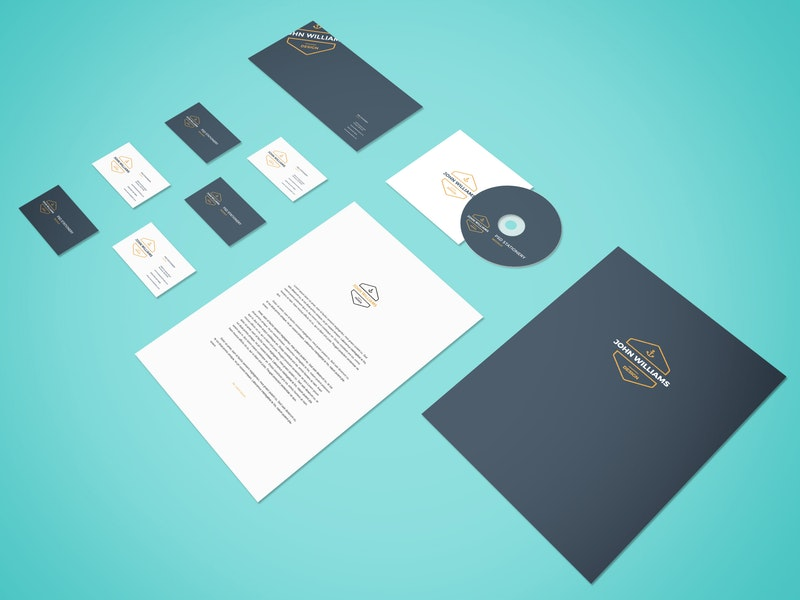 Perspective Stationery PSD Mockup preview