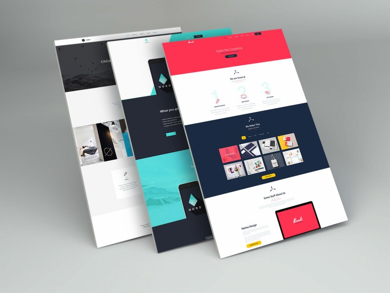 Perspective Web Design Mockup preview