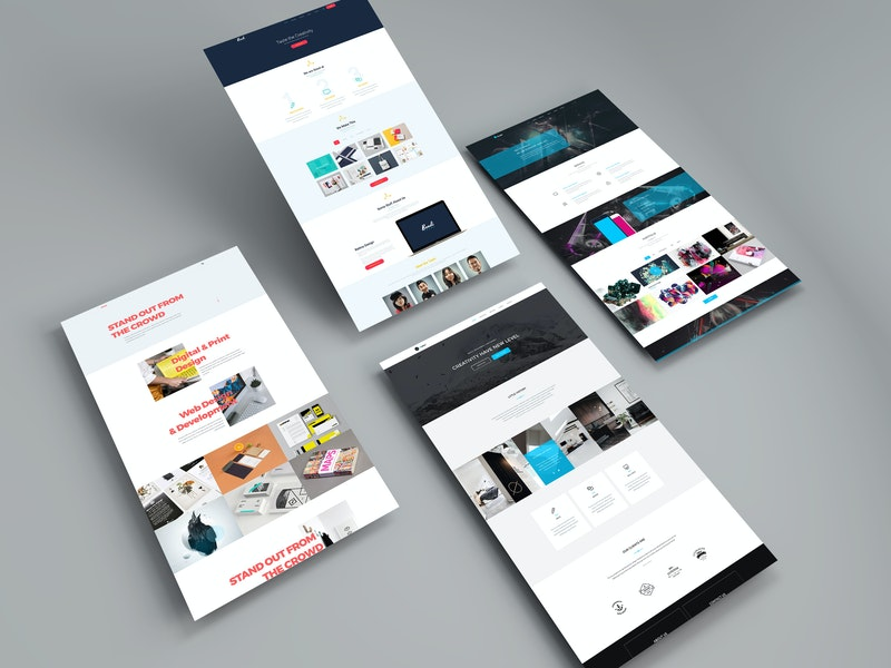 Perspective Web Mockup preview