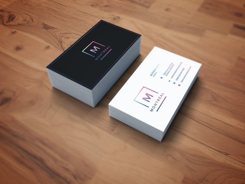 Photorealistic Business Card Mockup preview