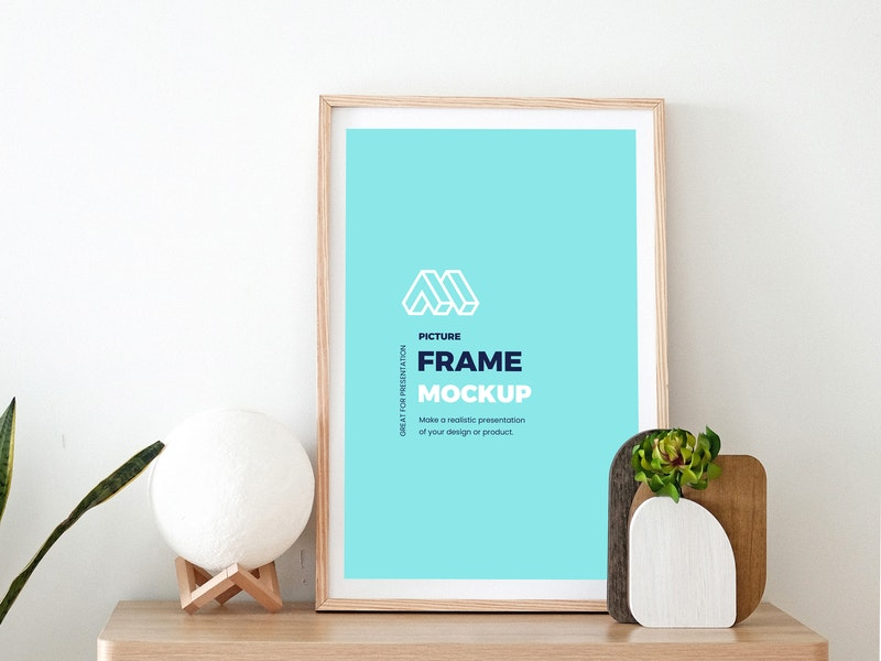 Picture Frame on Stand Mockup preview