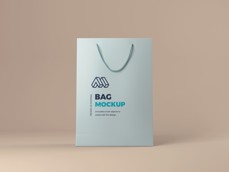Present or Shopping Bag Mockup preview