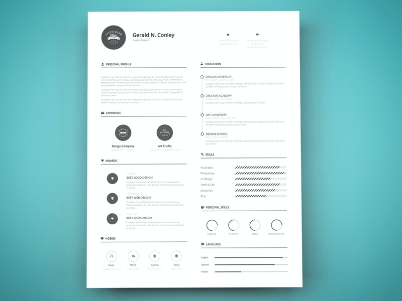 Print Ready Resume Template preview