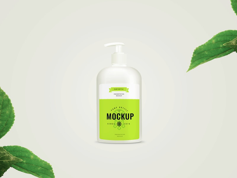 Pump Bottle PSD Mockup preview