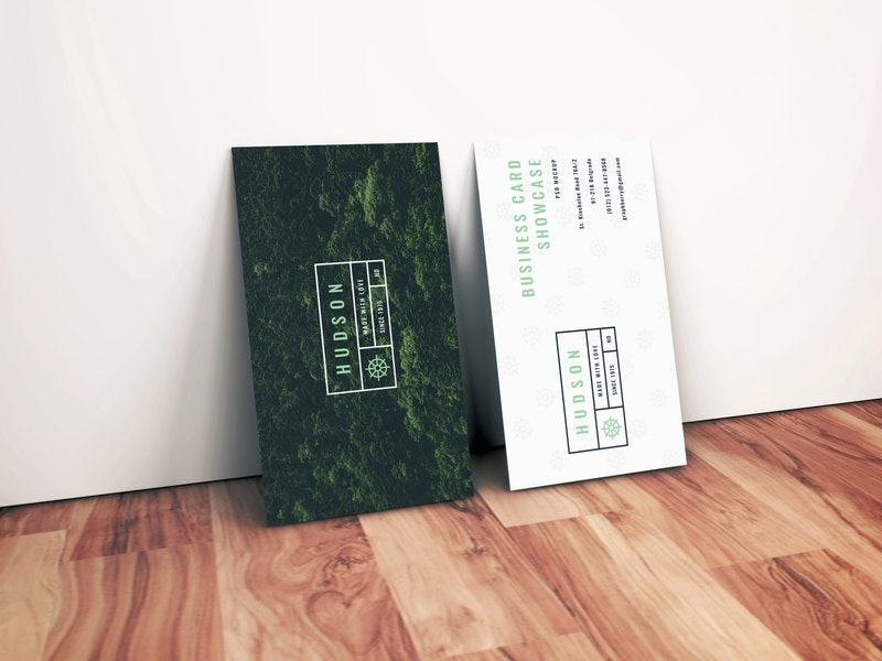 Realistic Business Card Mockup preview