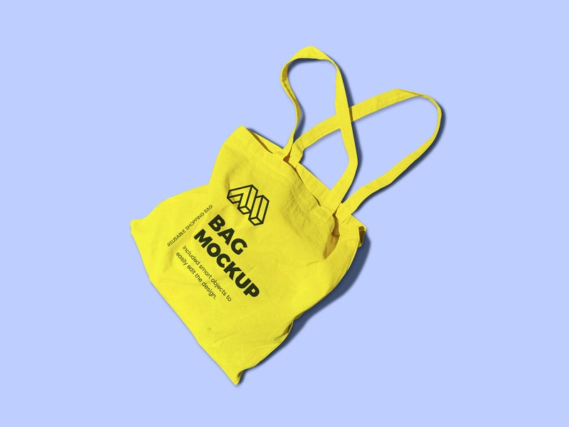 Reusable Bag Top View Mockup preview