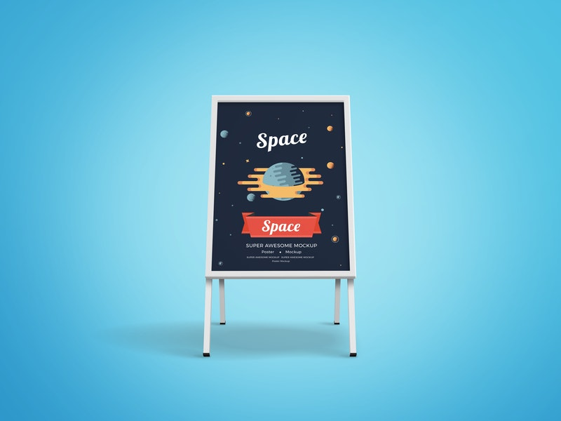 Sidewalk Sandwich Board Mockup preview