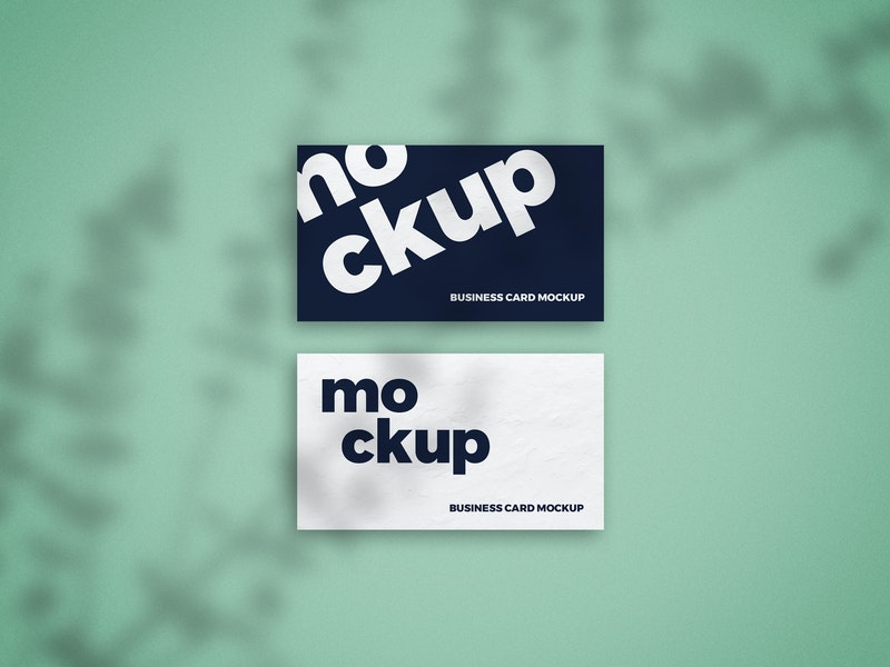 Shadow Overlay Business Card Mockup preview