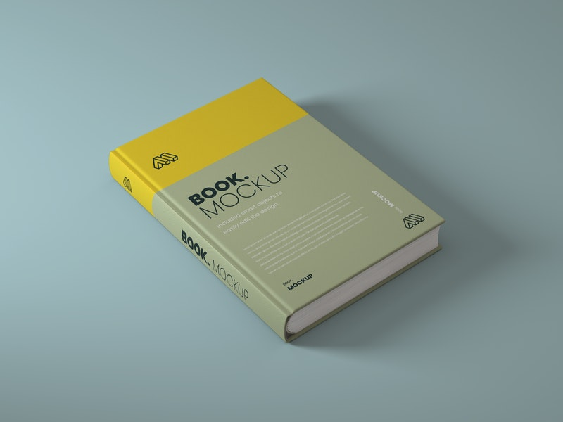 Side View Book PSD Mockup preview