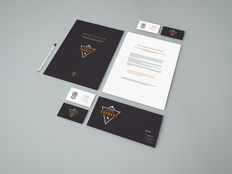 Simple Stationery PSD Mockup preview