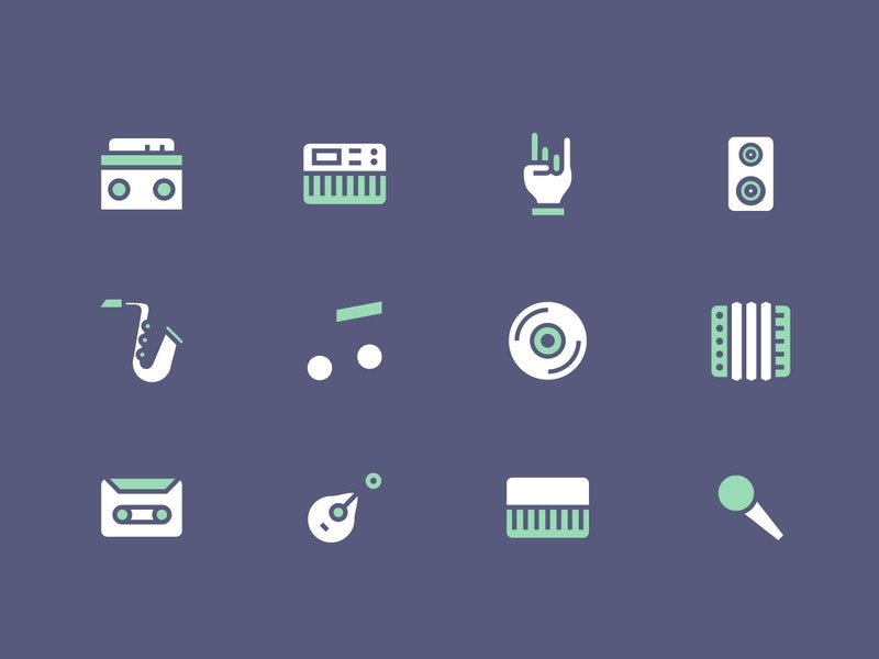 Simple Vector Music Icons preview