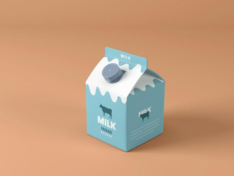 Small Milk Box Mockup preview