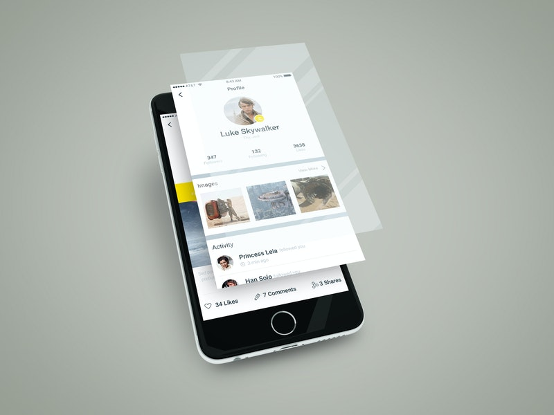 Smartphone App Multilayer Screen Mockup preview