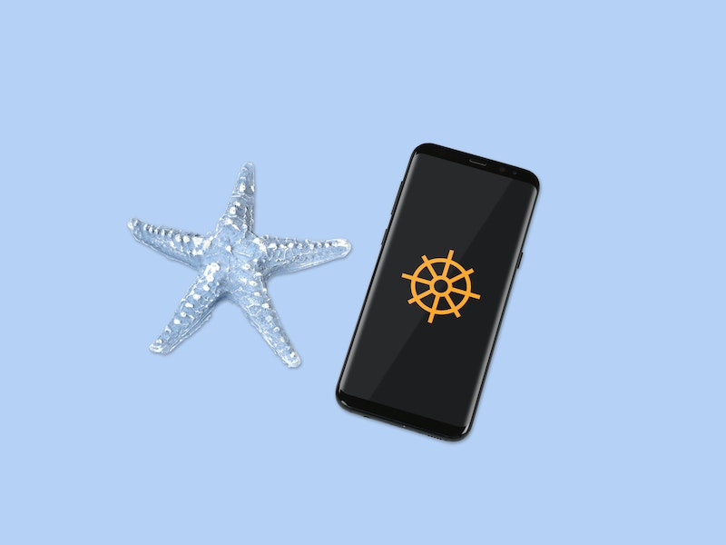 Smartphone Mockup With Sea Star  preview