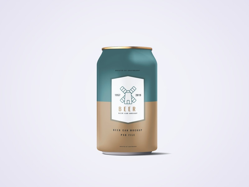 330ml Soda Or Beer Can Mockup preview