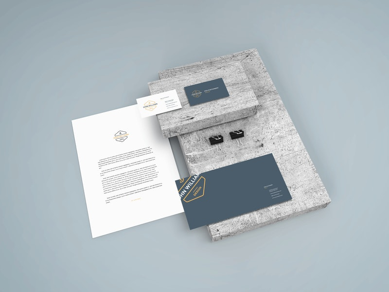 Stationery Scene Mockup PSD preview