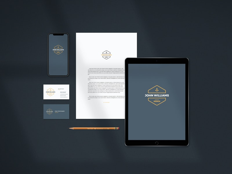 Stationery Scene PSD Mockup preview
