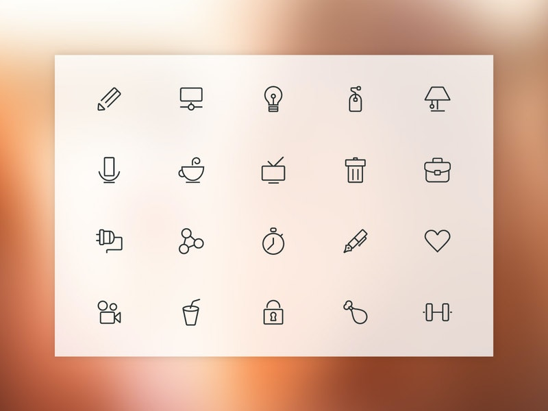Stroki - 20 Free Vector Line Icons preview
