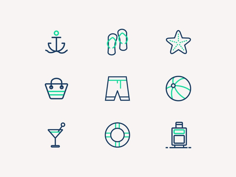 Summer Vector Icons preview